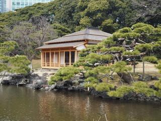 Hama rikyu japanese garden in tokyo photography OLYMPUS DIGITAL CAMERA