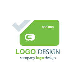 card logo vector green design
