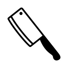 Butcher / butcher's cleaver knife flat icon for apps and websites