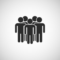 crowd people icon