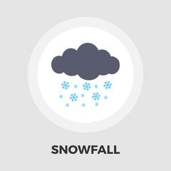 Snowfall icon flat