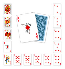 Playing cards diamond Ace