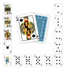 Playing cards spade King
