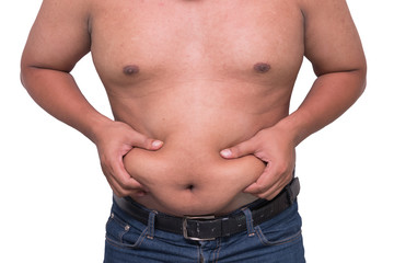 man with a cellulitis on a stomach.