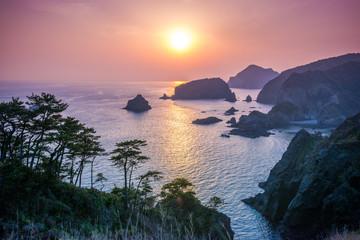 奥石廊崎の夕日
