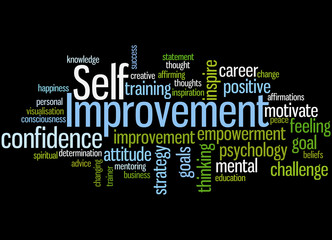 Self Improvement, word cloud concept 2