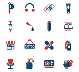 tattoo salon icon set