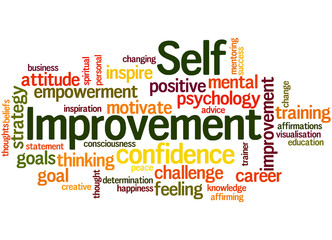Self Improvement, word cloud concept 8