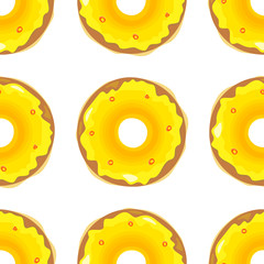 Donut Seamless Background Texture Pattern