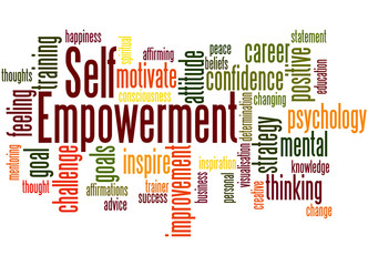 Self Empowerment, word cloud concept 4