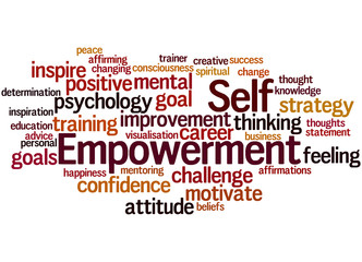 Self Empowerment, word cloud concept 5