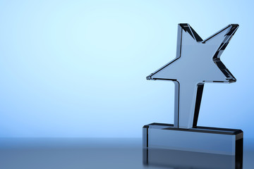 Star Award Trophy. 3d Rendering