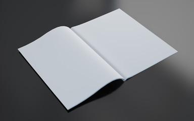 blank magazine opened