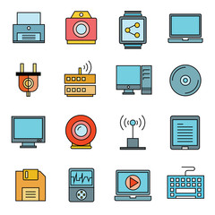 electronic device icons, gadget icons