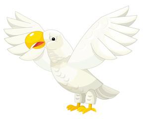 Cartoon eagle - isolated - illustration for children
