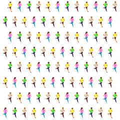 running sprinter isometric