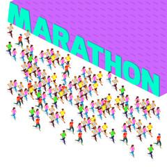 marathon running sprinter