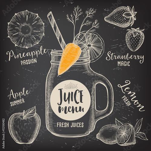 Juice Menu Placemat Drink Restaurant Brochure Dessert Template - Creative menu design templates