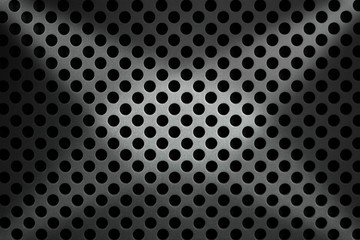 Metallic Background with Round Holes