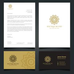 Hotel brand identity. Luxury Logo and Corporate Identity Template.