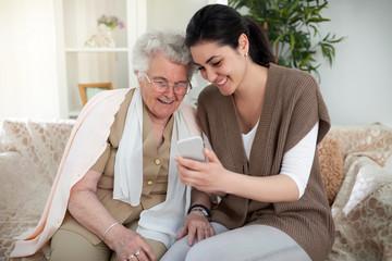 Creating memories with grandma