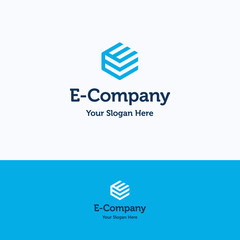 Hexagon E logo