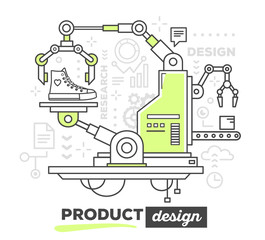 Vector illustration of creative professional mechanism to make s