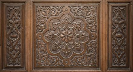 Old Decorative Islamic Art Engraved on Wood