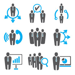 business icons, human resource icons