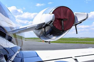 Covered small jet engine