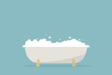 simple cartoon bubble bath