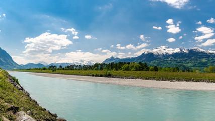 Rhein zwischen Liechtenstein / Schweiz 3