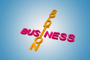 business and solution words