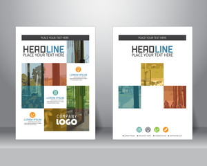 business brochure template, vector