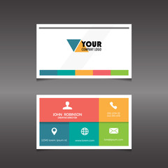 business card template, vector