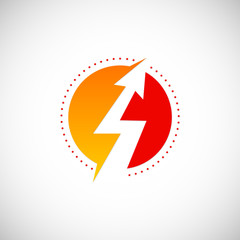 lighting bolt arrow thunder logo