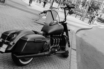 Fotorolgordijn Scooter old timer motorcycle