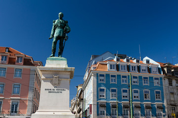 Cais do Sodre view in Lisbon, Portugal