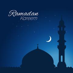 Ramadan Kareem graphic greeting background in Arabic style