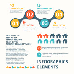 Business Infographics circle origami style. can be used for workflow layout, banner, diagram, number options, step up options web design. Vector