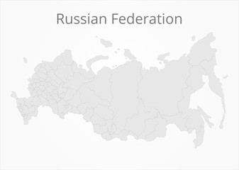 Russian Federation map. Vector illustration.