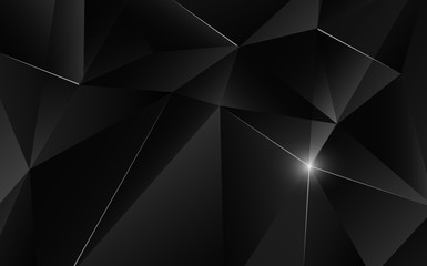 Abstract geometric triagle shape with light flare on background. Vector illustration.