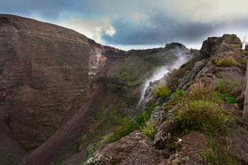 Reeky Vesuvius crater. Naples, Italy