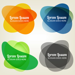 Set of abstract colorful bubbles for vector design.
