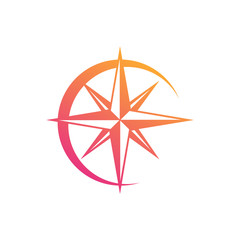 Compass Symbol, Modern concept for adventure, travel, tourism, search