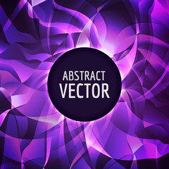 Vector abstract background. Glossy swirl triangles. Vector colorful geometrical illustration.