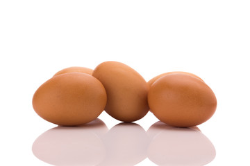 Egg. Isolated on white background