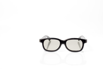 black 3d plastic glasses with plastic lens