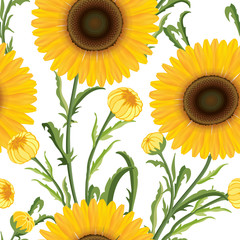 Floral seamless pattern. Flower  background. Floral tile ornamen