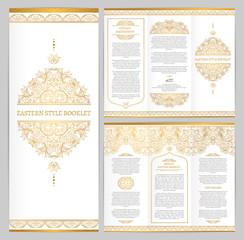 Ornate vintage booklet with line art floral decor.